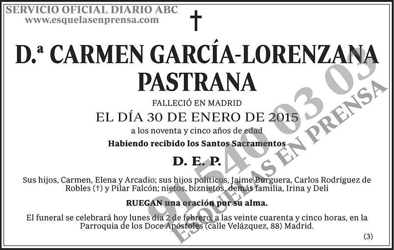 Carmen García-Lorenzana Pastrana